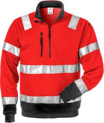 High Vis Zipper-Sweatshirt Kl. 3 728 SHV Fristads Medium