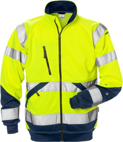 High vis sweat jacket class 3 7426 SHV 1 Fristads  Large