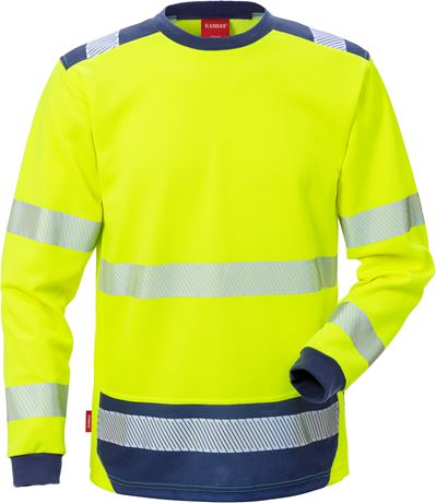 High Vis T-Shirt Langarm Kl. 3 7089 THV 2 Kansas  Large