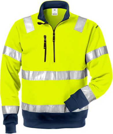 High Vis Zipper-Sweatshirt Kl. 3 728 SHV 3 Fristads  Large