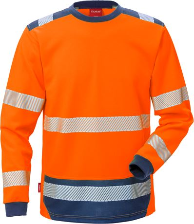 High Vis T-Shirt Langarm Kl. 3 7089 THV 3 Kansas  Large