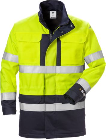 Flame high vis winterparka klasse 3 4589 FLAM 1 Fristads  Large
