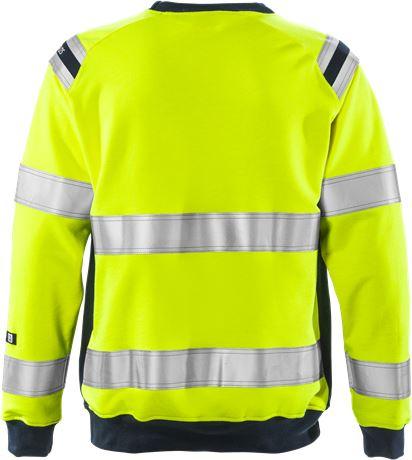 Flamestat high vis sweatshirt class 3 7076 SFLH 2 Fristads  Large