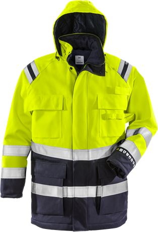 Flamestat High Vis Winterparka Kl. 3 4086 ATHR 1 Fristads  Large