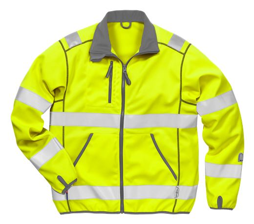 Hi Vis softshell jakke kl.3 4840 2 Kansas  Large