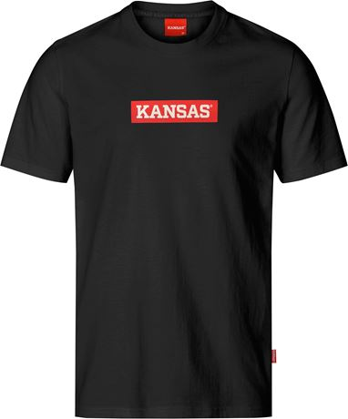 Heavy cotton logo t-shirt 1 Kansas  Large