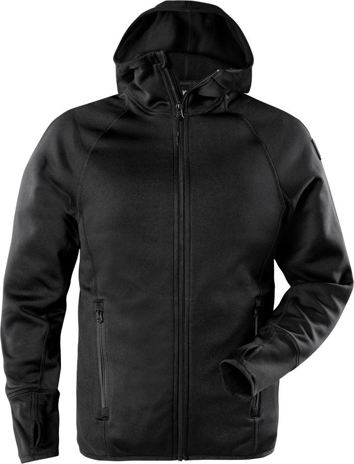 Fristads Outdoor Men's Calcium Polartec Power stretch hoodie, Svart