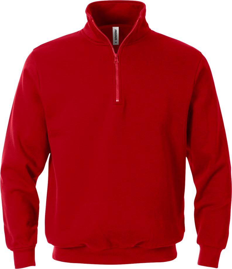 Fristads Men's Acode sweatshirt med kort dragkedja 1737 SWB, Röd