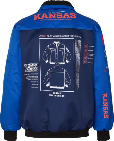 Kansas Wear Icon Pilotjacke 3 Kansas  Large