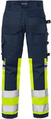 Hi Vis stretch bukser kl.1 2615 PLUS 2 Fristads Small