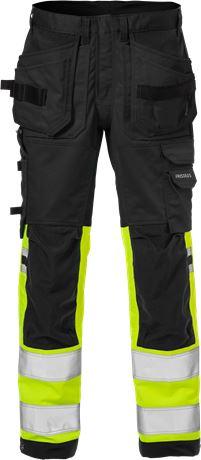High vis craftsman stretch trousers class 1 2614 PLUS 1 Fristads  Large