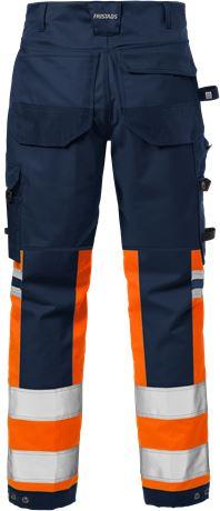 Hi Vis Håndværker stretch bukser kl.1 2614 PLUS 2 Fristads  Large