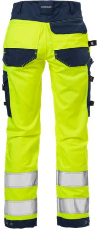 High Vis Handwerker Stretch-Hose Damen Kl. 2 2613 PLUS 4 Fristads  Large
