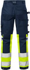 High Vis Handwerker Stretch-Hose Kl. 1 2614 PLUS 2 Fristads Small