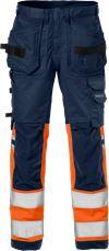Hi Vis Håndværker stretch bukser kl.1 2614 PLUS 1 Fristads Small