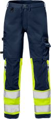 Hi Vis stretch bukser kl.1 2615 PLUS 1 Fristads Small