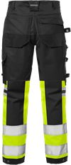 High vis craftsman stretch trousers class 1 2614 PLUS 2 Fristads Small