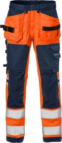 High vis craftsman stretch trousers class 2 2612 PLUS 1 Fristads  Large