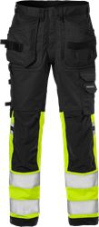 High vis rakentajan stretch housut LK 1 2614 PLUS Fristads Medium