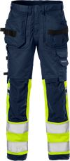 High Vis Handwerker Stretch-Hose Kl. 1 2614 PLUS 1 Fristads Small