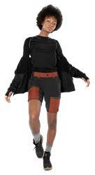 Carbon Semistretch Outdoor shorts, dame Fristads Outdoor Medium