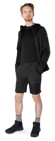 Carbon Semistretch Outdoor Shorts  2 Fristads Outdoor  Large