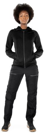 Calcium Polartec® power stretch hoodie, dam 2 Fristads Outdoor  Large