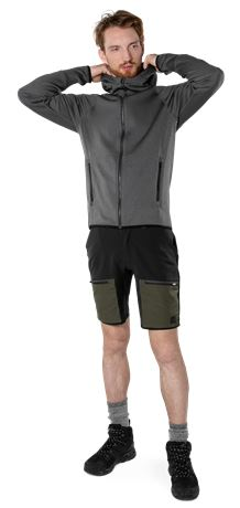 Carbon semistretch friluftsshorts 3 Fristads Outdoor  Large