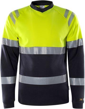 Flamestat high vis  t-shirt met lange mouwen klasse 1 7107 TFL 1 Fristads