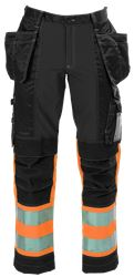 Ladies Tool Pocket Trousers HiVis 3.0 Stretch Medium