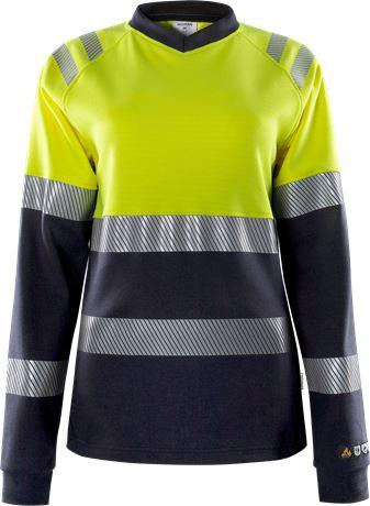 Flamestat high vis dames t-shirt met lange mouwen klasse 1 7108 TFL 1 Fristads