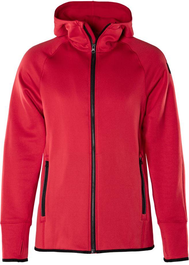 Fristads Outdoor Women's Calcium Polartec power stretch hoodie, dam, Röd