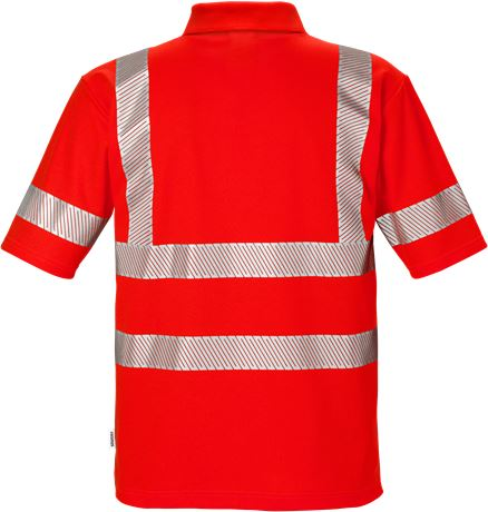 High vis polo shirt class 3 7406 PHV 2 Fristads  Large