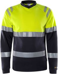 Flamestat high vis long sleeve t-shirt class 1 7107 TFL Fristads Medium