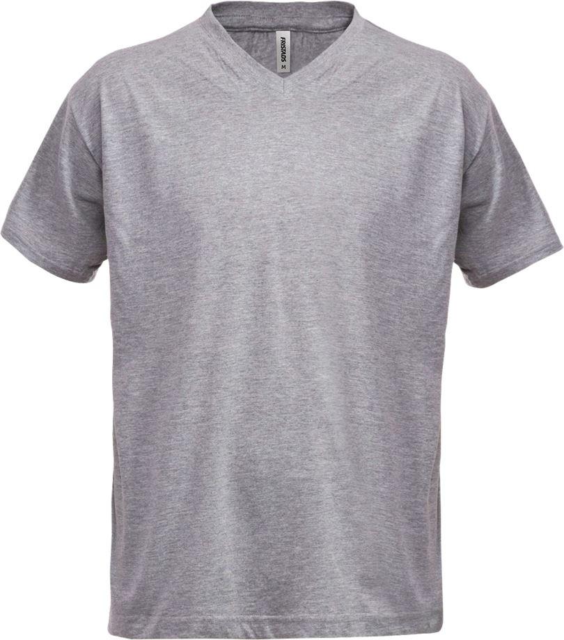 Fristads Men's Acode v-ringad T-shirt 1913 BSJ, Ljusgrå
