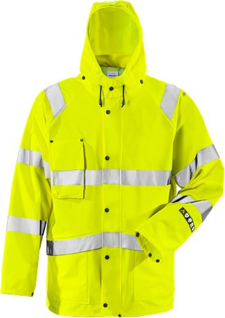 Flame high vis rain jacket class 3 4845 RSHF 1 Fristads