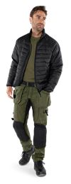 Green quilted jacket 4101 GRP 7 Fristads Small