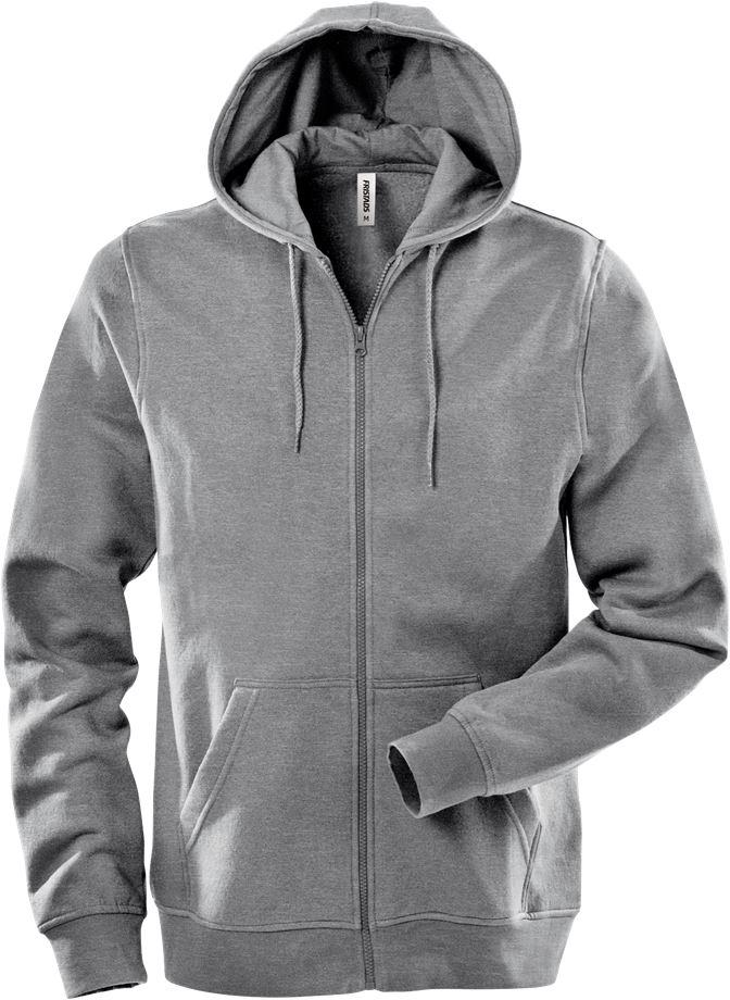 Fristads Unisex Acode sweatshirt-jacka med huva 1736 SWB, Ljusgrå