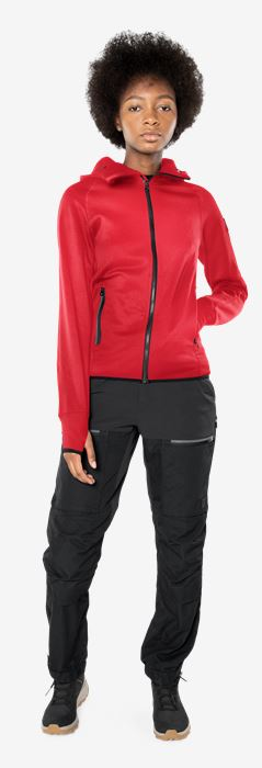 Calcium Polartec® power stretch hoodie Woman Fristads Outdoor Medium