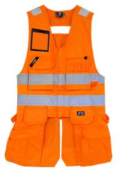 Tool Pocket Vest HiVis  Leijona Medium