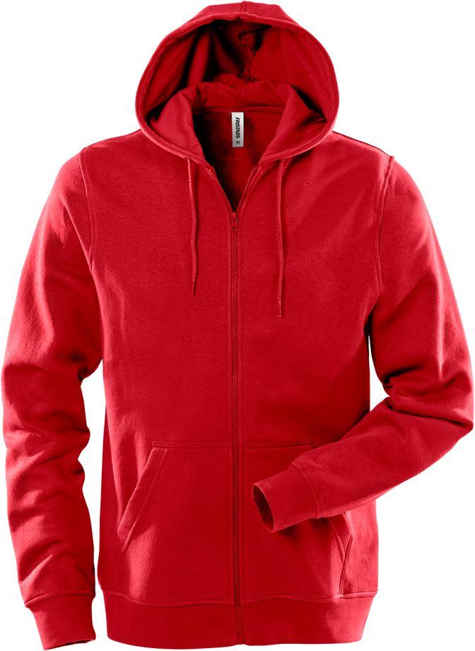 Fristads Unisex Acode sweatshirt-jacka med huva 1736 SWB, Röd