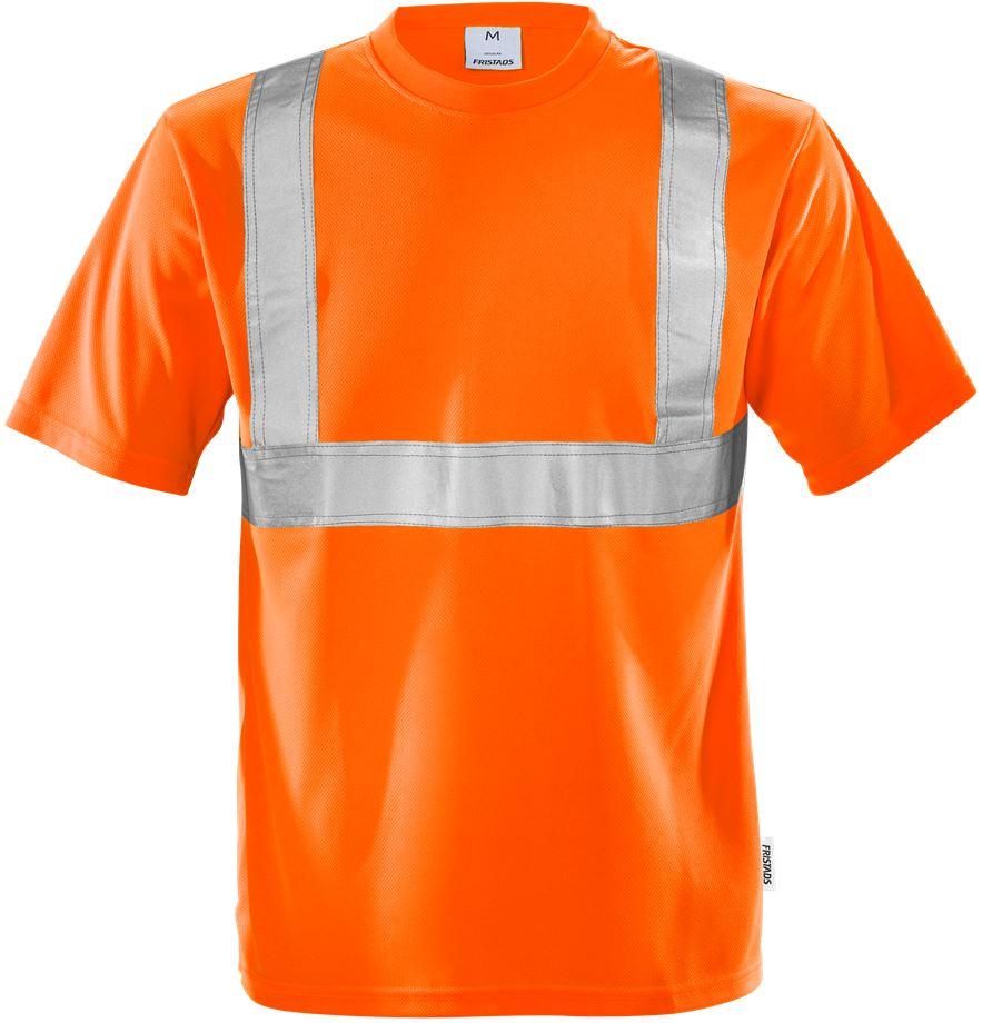 Fristads Men's Varsel T-shirt 7411 TP, klass 2, Varsel Orange