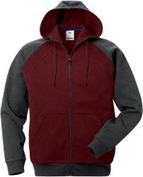 Acode sweatshirt-jacka med huva 1757 DF Fristads Medium