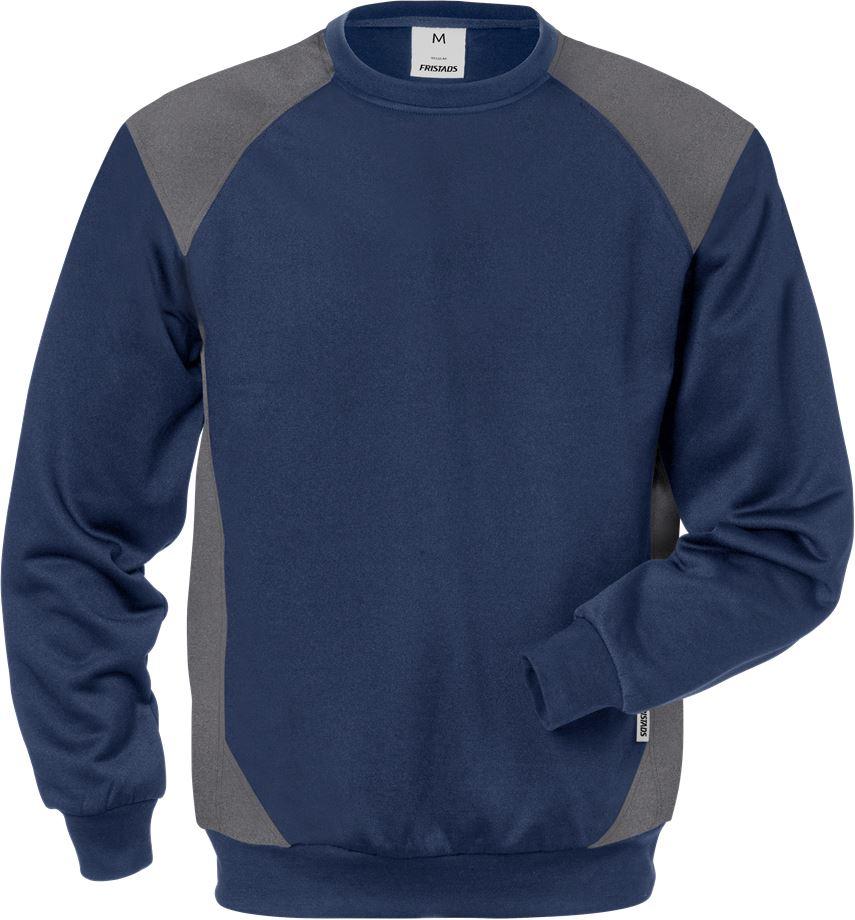 Fristads Men's Sweatshirt 7148 SHV, Marinblå/Grå