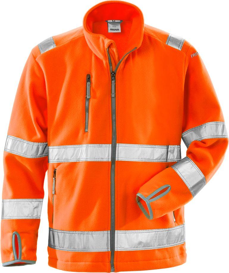 Fristads Men's Varsel fleecejacka 4400 FE, klass 3, Varsel Orange