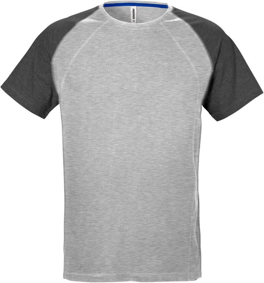 Fristads Men's Acode T-shirt 7652 BSJ, Grå/Mörkgrå