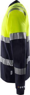 Flamestat high vis  t-shirt met lange mouwen klasse 1 7107 TFL 3 Fristads Small