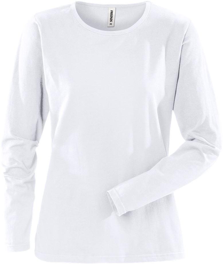 Fristads Women's Acode långärmad T-shirt stretch 1927 ELA, dam, Vit