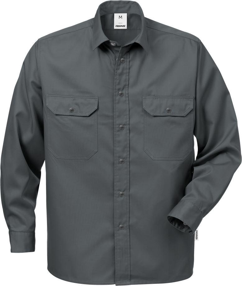 Fristads Men's Skjorta bomull 720 BKS, Mörkgrå