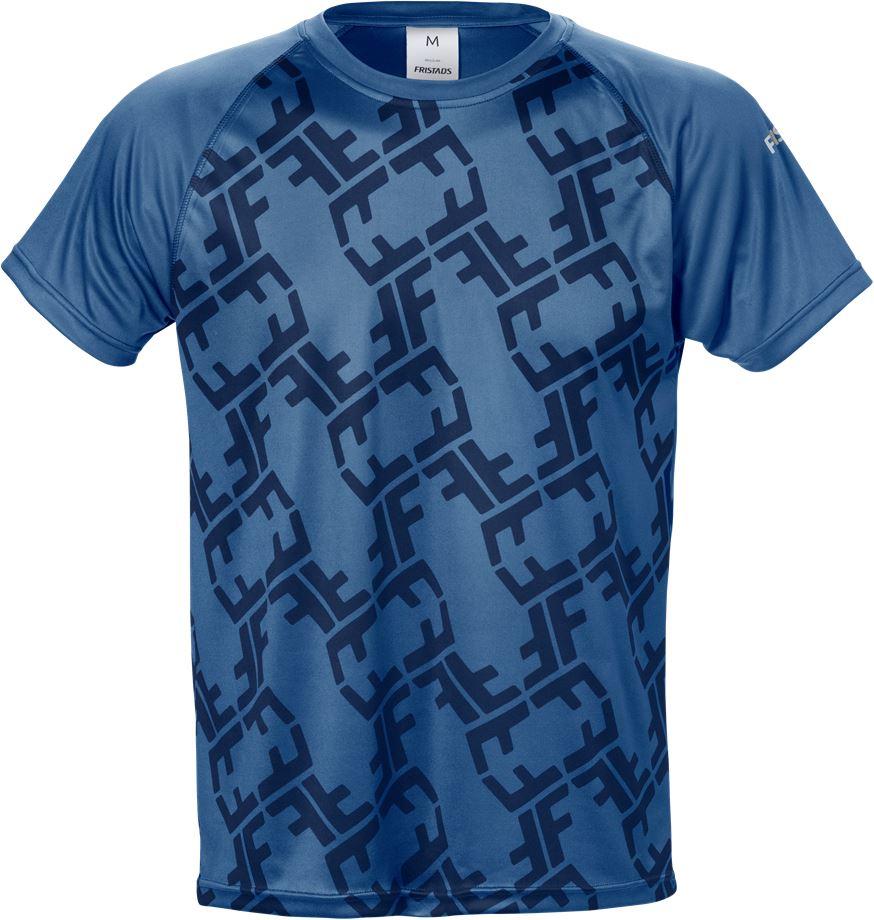 Fristads Men's Friwear funktions T-shirt 7456 LKN, Blå